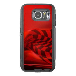Red Black Checker Pattern Print Design OtterBox Samsung Galaxy S6 Case