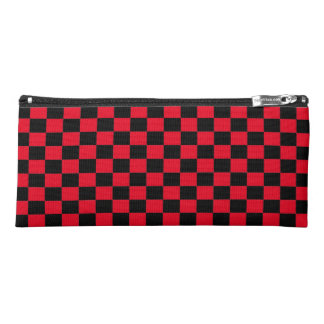 Red & Black Checker Pencil Case