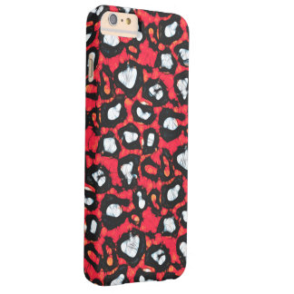 Red Black Cheetah Abstract Barely There iPhone 6 Plus Case