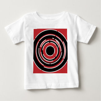 Red Black Circular Abstract Background Baby T-Shirt