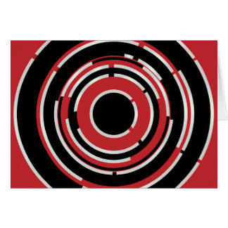 Red Black Circular Abstract Background Card