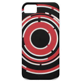 Red Black Circular Abstract Background Case For The iPhone 5