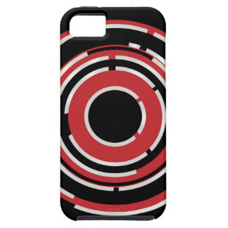 Red Black Circular Abstract Background iPhone 5 Case