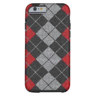 Red & Black Comfy Argyle Look iPhone 6 case Tough iPhone 6 Case