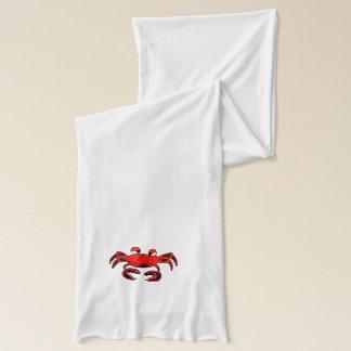 Red & Black Crab Winter Scarf