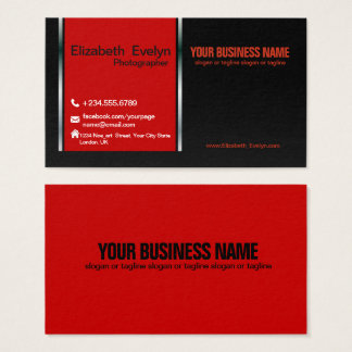 red & black Creative Business Card