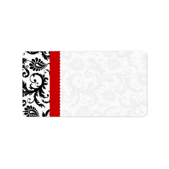 Red & Black Damask Dots Shipping