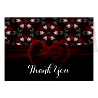 Red & Black Dark Night Gothic Wedding Romance Card