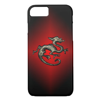 Red & Black Dragon iPhone Case, Holder iPhone 7 Case