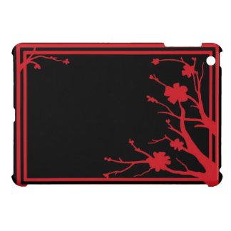 Red black flowers theme ipad mini case
