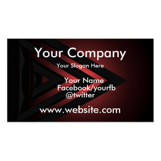 Red Black Geometric Pack Of Standard Business Cards