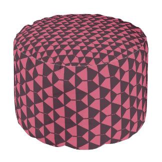 Red Black geometric Grade A Woven Cotton Pouf
