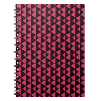 Red Black geometric Spiral Photo Notebook