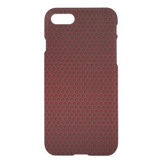 Red & Black Graphite Honeycomb Carbon Fiber iPhone 7 Case