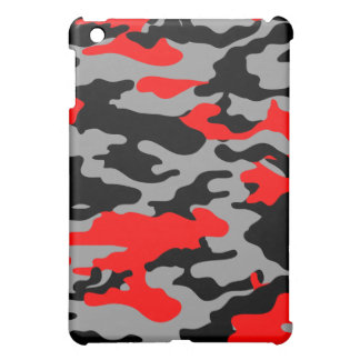 RED, BLACK & GRAY CAMO iPad MINI COVERS