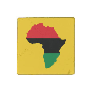 Red, Black & Green Africa Flag Stone Magnets