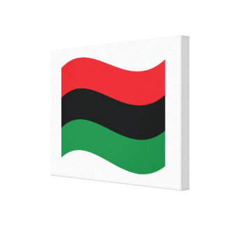 Red, Black & Green Flag Gallery Wrap Canvas