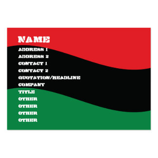 Red, Black & Green Flag Large Business Card