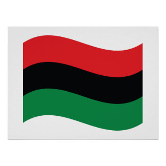Red, Black & Green Flag Posters