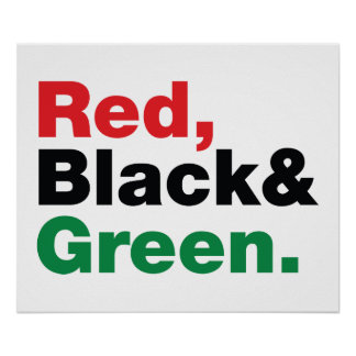 Red Black Green Poster