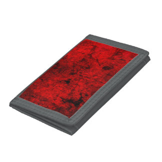 Red Black grunge abstract digital graphic art Tri-fold Wallets