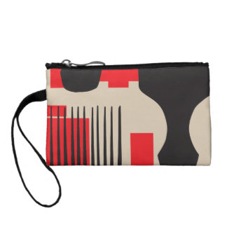 Red Black Hair Comb Afro Pick Coin Wallet