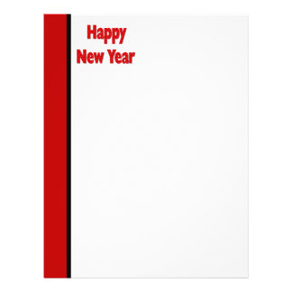 Red Black Happy New Year Personalized Flyer
