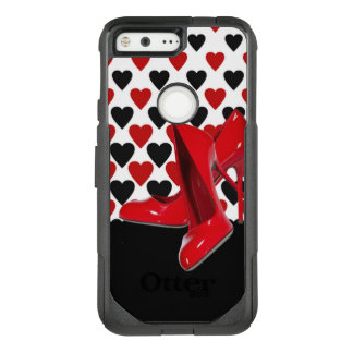 Red & Black Hearts With Red High Heels OtterBox Commuter Google Pixel Case