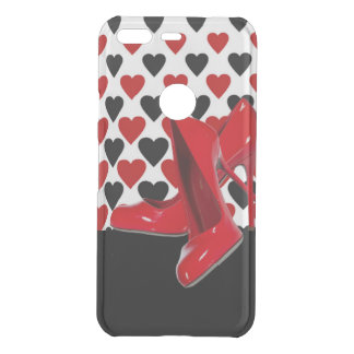 Red & Black Hearts With Red High Heels Uncommon Google Pixel Case