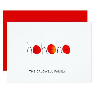 Red & Black Ho Ho Ho Hand-painted Christmas Card