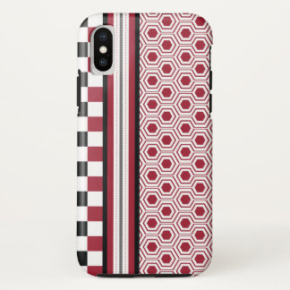 Red Black Honey iPhone X Case
