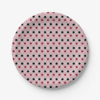 Red Black Honey Paper Plate