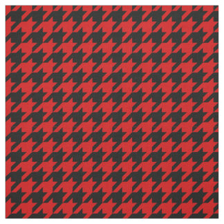 Red, Black Houndstooth Pattern #2M Fabric