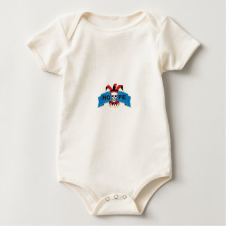 red black joker of death baby bodysuit