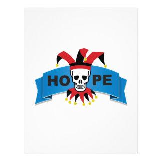 red black joker of death letterhead design