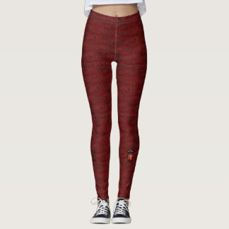 RED/BLACK LEGGINGS WITH RED LADYBUG