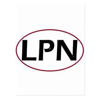 Red Black LPN Postcards