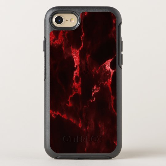 Red Black Marble-Effect Pattern OtterBox Symmetry iPhone 8/7 Case
