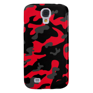 Red black military camouflage textures