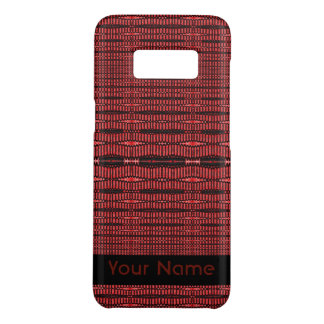 Red Black Modern Pattern Case-Mate Samsung Galaxy S8 Case