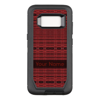 Red Black Modern Pattern OtterBox Defender Samsung Galaxy S8 Case