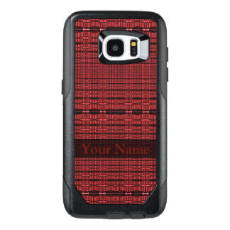 Red Black Modern Pattern OtterBox Samsung Galaxy S7 Edge Case