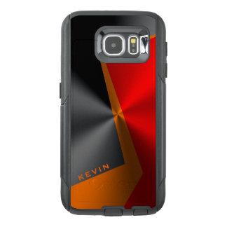 Red black & orange metallic design OtterBox samsung galaxy s6 case