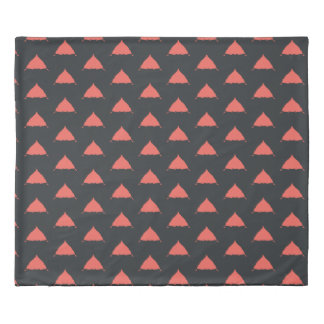 Red black pattern Duvet Cover