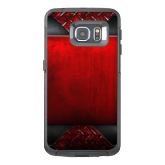 Red Black Pattern Print Design OtterBox Samsung Galaxy S6 Edge Case