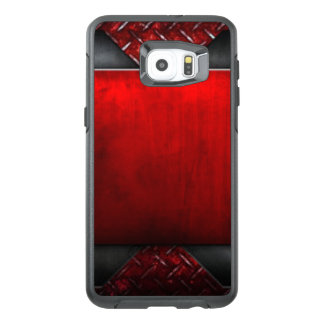 Red Black Pattern Print Design OtterBox Samsung Galaxy S6 Edge Plus Case