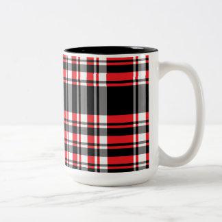 Red & Black Plaid Mug
