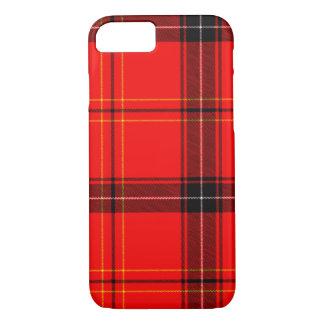 Red & Black Plaid Tartan Pattern iPhone Case