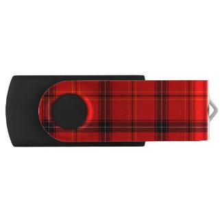 Red & Black Plaid Tartan USB Flash Drive