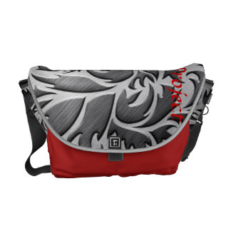 Red & Black Rickshaw Messenger Canvas Bag Commuter Bags